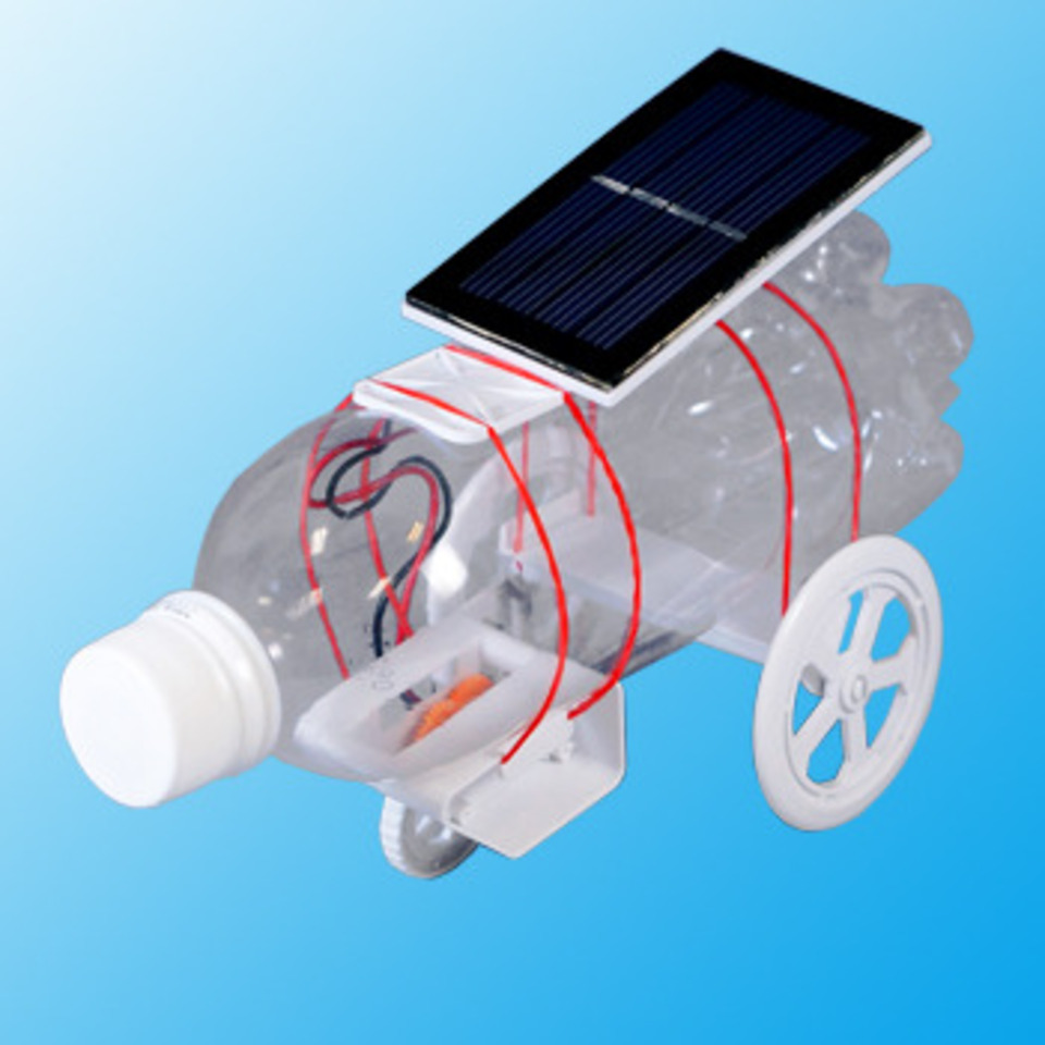 Solar Panel Dimensions >> PET BOTTLE SOLAR CAR [ JS-691 ]| PRODUCTS | ELEKIT